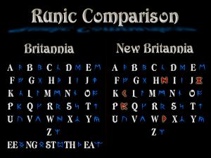 Runic Comparison